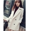Modern White Wide Lapel Trench Coat, Korean Clothing Online   FASHION-BEAUTY-CLOTHES-GIRL   Scoop.it