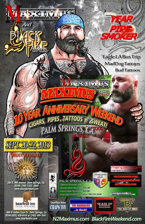 Black Fire Cigar and Pipe Weekend Palm Springs : Sept 20-22 | Gay Palm Springs | Scoop.it