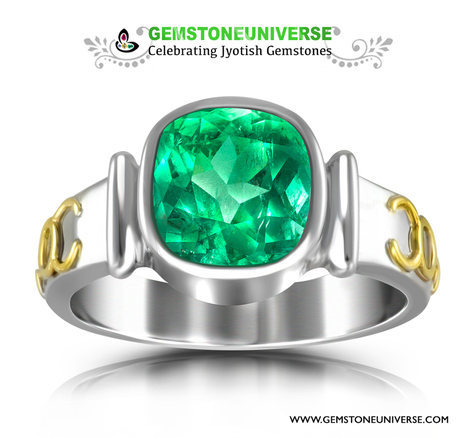Parrot Green Colombian Emerald set in Mercury Talismanic ring with sacred herbs | gemstones | Scoop.it