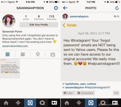 Savannah Smiled: Instagram Broke Up With Me | james charlee | Scoop.it