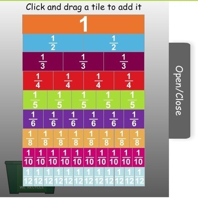Virtual Manipulatives: Fraction Tiles | TeachBytes | Making Math Meaningful and Relevant and Learners Taking Charge of Their Learning (Combined Topics) | Scoop.it