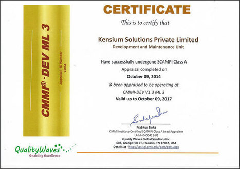 Certifications | Kensium Solutions | Business and IT Solutions | Scoop.it