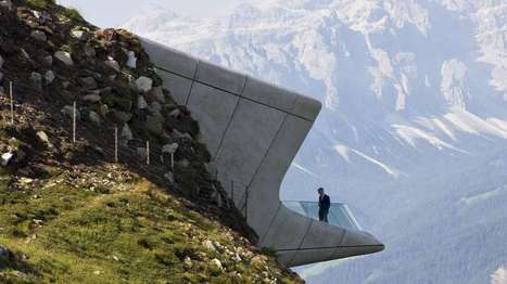 Zaha Hadid's museum in the mountain opens for business | Real Estate Plus+ Daily News | Scoop.it
