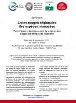 Séminaire sur les listes rouges régionales des espèces menacées, le 4 décembre 2013 au MNHN | Nouvelles Flore | Scoop.it