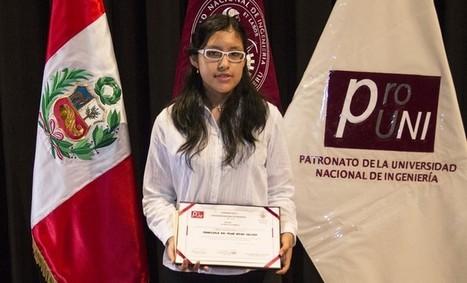 Adolescente de 15 años logra récord histórico en la UNI | Women & Girls in ICT | Scoop.it
