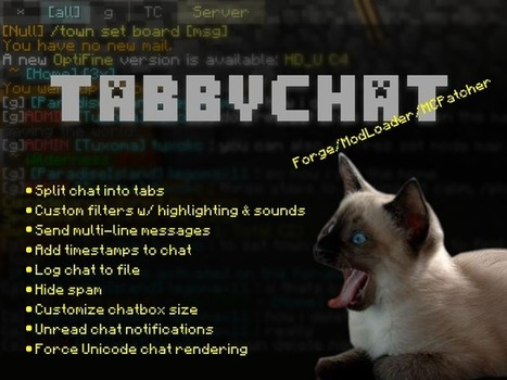 TabbyChat Mod for Minecraft 1.7.10  | Minecraft 1.7.10/1.7.9/1.7.2 | Minecraft 1.6.4 Mods | Scoop.it
