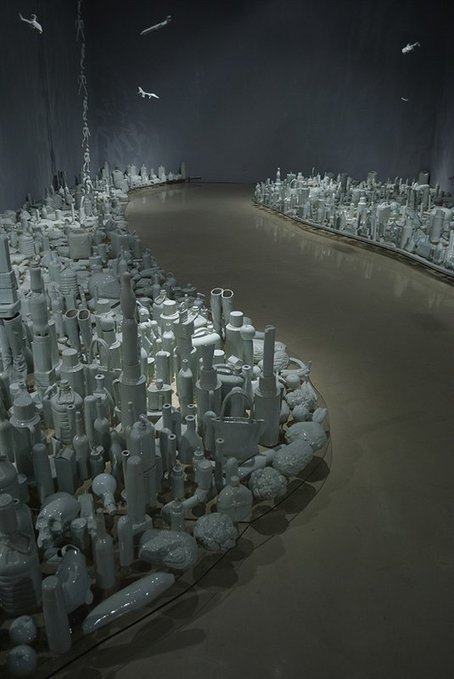 Produktsicht | Liu Jianhua: Floating Landscape- Along Both Sides... | Modern Art China : Contemporary Chinese Art | Scoop.it