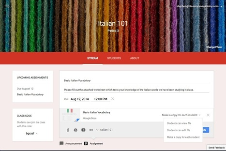 Google Classroom ya está disponible oficialmente - ITespresso.es | NUEVAS TECNOLOGÍAS Y EDUCACIÓN - METODOLOGÍA Y PRÁCTICA | Scoop.it