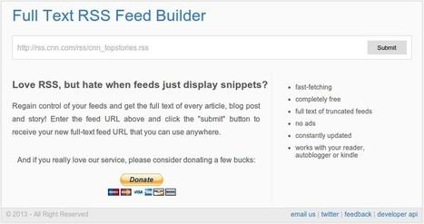 Full Text RSS Feed : lire intégralement des flux RSS tronqués | François MAGNAN  Formateur Consultant | Scoop.it