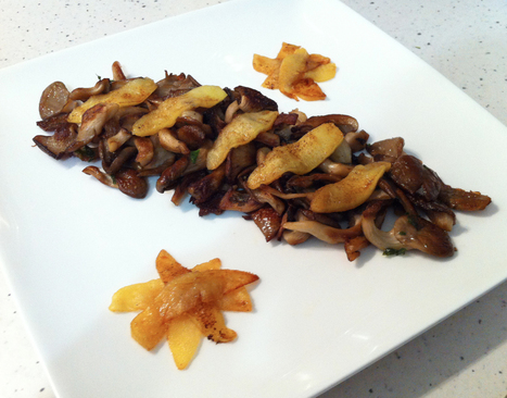 POELEE DE PLEUROTES AUX POMMES CARAMELISEES | <3 Food | Scoop.it
