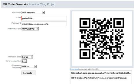 Clave WiFi en codigo QR, gran idea para iOS y Android   PoderPDA   Códigos QR y realidad aumentada en educación   Scoop.it