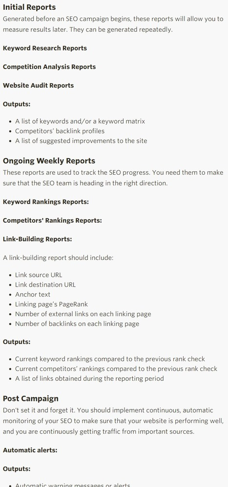 The 7 Must-Have SEO Reports to Meet Today's Search Optimization Challenges - Search Engine Watch | SEO | Scoop.it