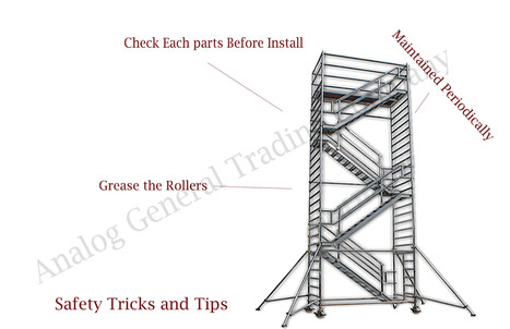 Foldable Mobile Tower in Ajman' in Scaffolding Company in