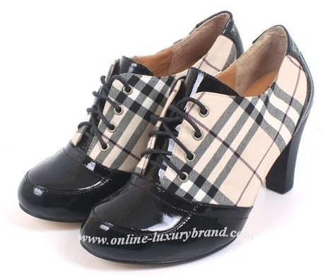 burberry coat outlet azzl  Burberry Women Nova Check High Heel Shoes Black [B006489]