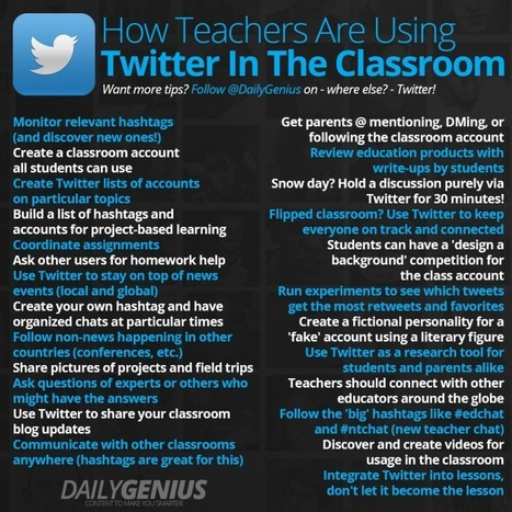 25 top ways teachers use Twitter in the classroom - Daily Genius | Professional development of Librarians | Scoop.it