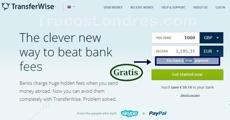 Cómo Hacer Transferencia Gratis con Transferwise - Trucos Londres | Transferwise en TrucosLondres | Scoop.it