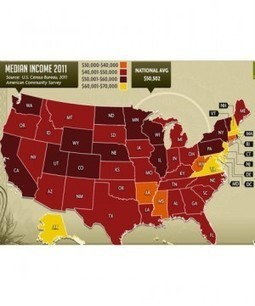 Map Shows Richest, Poorest And Happiest States - Refinery29 | Geolocated | Scoop.it