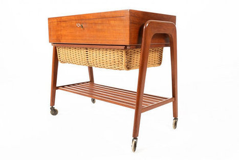 Mid Century Modern Teak Sewing Box | Vintage Living Today For A Future Tomorrow | Scoop.it