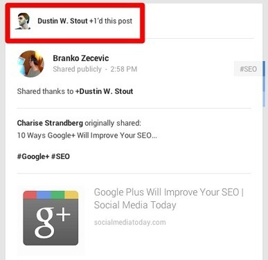 Google Plus New +1 Recommendations: What They Are & How to Use Them | Self Promotion | Scoop.it