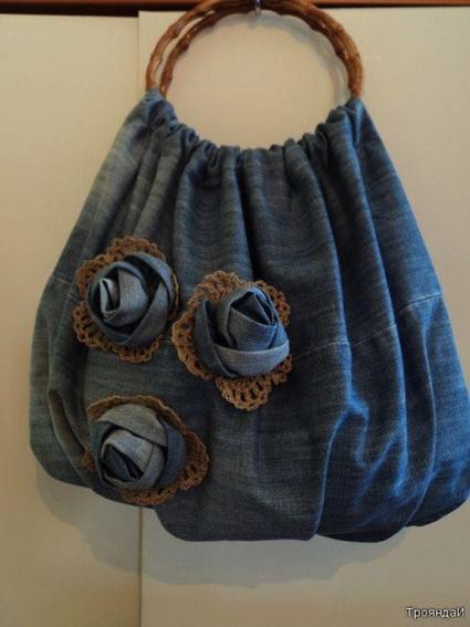 Creare borse di jeans facile e diverte for Borse fai da te jeans
