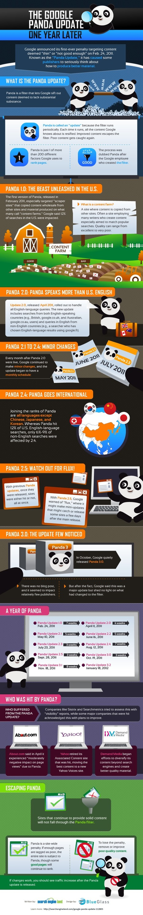 Infographic: The Google Panda Update, One Year Later | Google Algorithm | Scoop.it