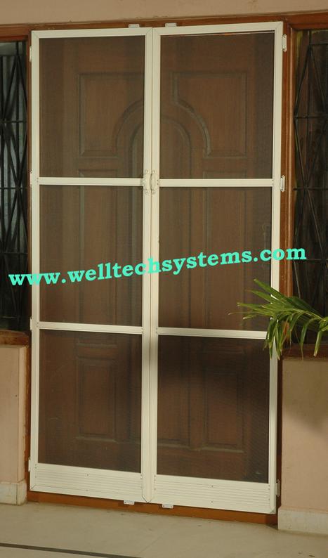 Mosquito Screen Double Doors - Hyderabad & mosquito mesh doors and windowsu0027 in Mosquito Screens Hyderabad ...