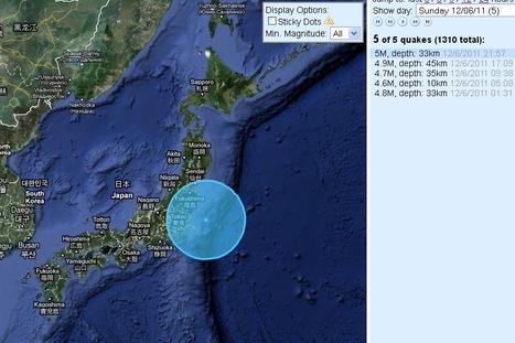 [séisme] un dimanche particulièrement actif dans le secteur de Fukushima | Japan Quake Map | Japon : séisme, tsunami & conséquences | Scoop.it
