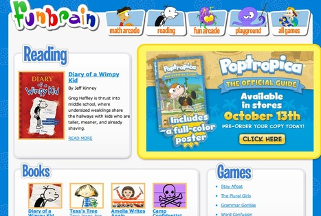 Reading Activities for Kids (Games, Online Comics, Web Books & Mab Libs Junior) – FunBrain.com | Library curating | Scoop.it