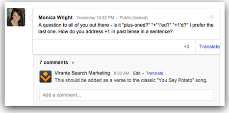 """Google Plus Pages Can Now Act Like Real People - Virante Orange Juice 