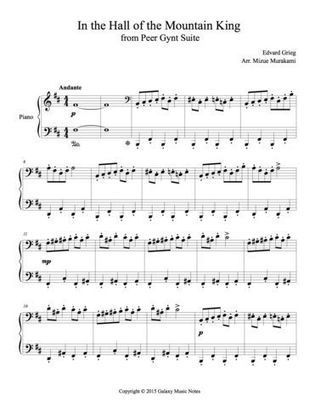 In the hall of the mountain king the peer gynt in the hall of the mountain king the peer gynt suite easy piano sheet music junior edition ebook rar fandeluxe Choice Image