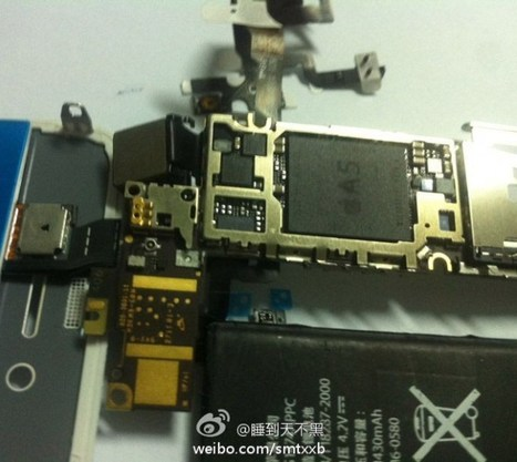 Alleged iPhone 5 parts leak, show A5 and 1430 mAh battery | Digital Lifestyle Technologies | Scoop.it