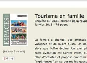 Numéro spécial Tourisme en Famille - revue Espace | Tourisme en Famille - Pistes à suivre | Scoop.it