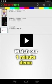 Recordable: easy screen recording on Android, no root required | recordable.mobi | Commercial Software and Apps for Learning | Scoop.it
