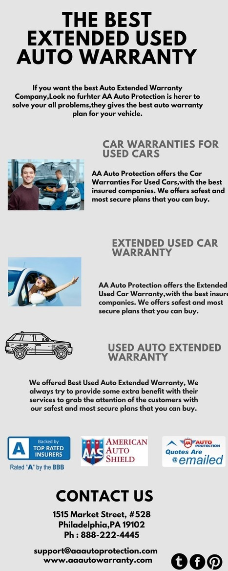 Extended Used Car Warranty In Aa Auto Protection Scoop It