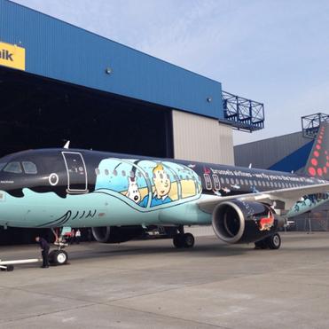 """Brussels Airlines : un Airbus A320 en livrée spéciale « Tintin...   """"World Travel"""" info 世界旅行の情報   Scoop.it"""