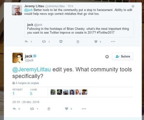 Twitter : Jack Dorsey évoque une fonctionnalité de correction des tweets - Blog du Modérateur | François MAGNAN  Formateur Consultant | Scoop.it