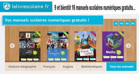 9 et bientôt 16 manuels scolaires numériques interactifs gratuits…     TUICE_Université_Secondaire   Scoop.it