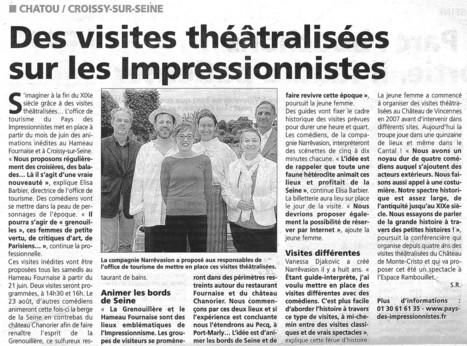 Visites théâtralisées bords de Seine | Espace Chanorier | Scoop.it