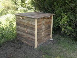 composteur en bois de palette 1 m tre cu. Black Bedroom Furniture Sets. Home Design Ideas