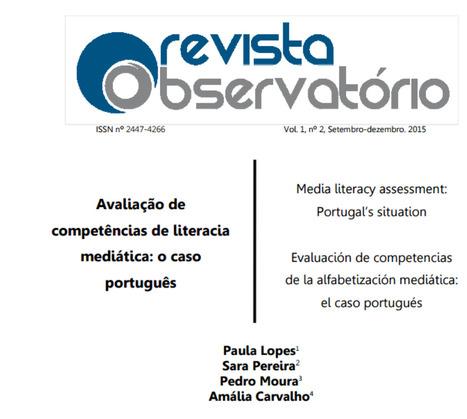 Avaliação de competências de literacia mediática: o caso português | Educação, Media e Cidadania | Scoop.it
