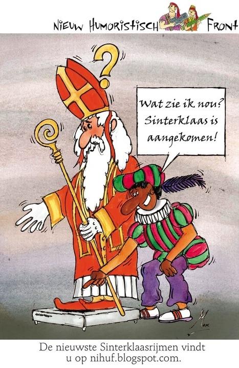 Cartoon: Sinterklaas is aangekomen | Sinterklaasfeest, feest met Sint Nicolaas, Zwarte Piet en goochelaar in voorprogramma | Scoop.it