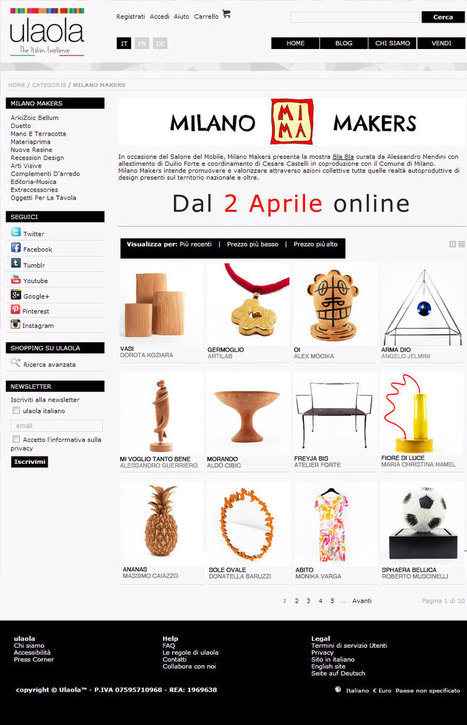 Shop online Milano Makers by Ulaola | MILANO MAKERS | autoproduttori | Scoop.it