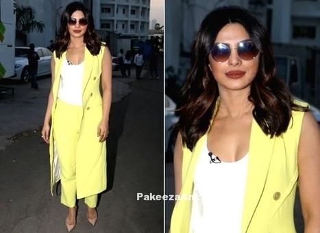 Priyanka Chopra at The Kapil Sharma Show, #ActressInPants, #ActressInYellowDresses, #BollywoodActress, #BollywoodDesignerDresses, #CelebrityDresses, #DesignerWear, #IndianFashionDesigners, #Loubout... | Indian Fashion Updates | Scoop.it