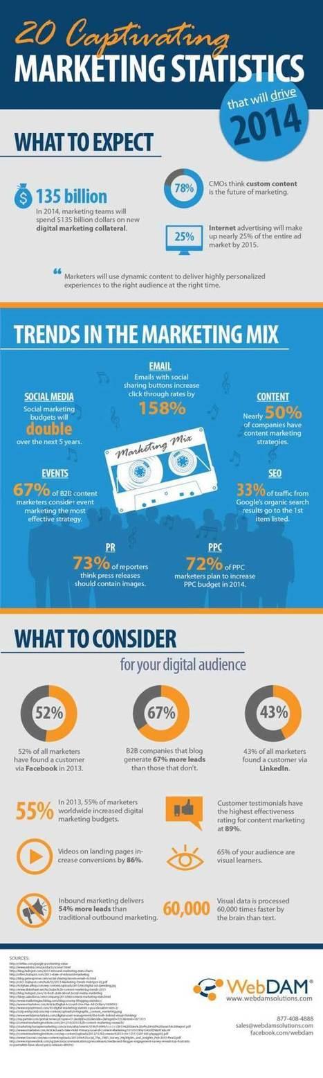 20 Amazing Marketing Statistics That Will Drive 2014 (Infographic) | ten Hagen on Social Media | Scoop.it