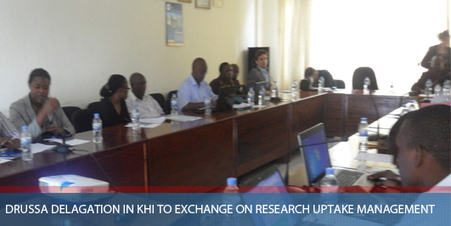 DRUSSA DELAGATION IN KHI TO EXCHANGE ON RESEARCH UPTAKE MANAGEMENT | RoundUp: Research Uptake | Scoop.it