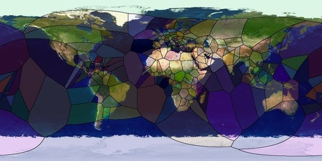 Voronoi diagram of the world's capitals - what the... | Visualisation | Scoop.it