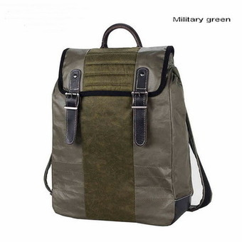 Retro coated canvas laptop day pack with leather trims from Vintage rugged canvas bags | personalized canvas messenger bags and backpack | Scoop.it