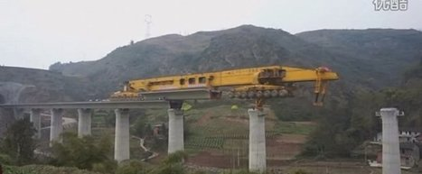 580-Ton Segmental Bridge Building Machine at work in China | cross pond high tech | Scoop.it