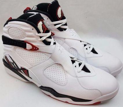 the best attitude 1d86d 66bf1 Nike Air Jordan 8 VIII Retro 305381-104 Alternate 1993 White Gym Red Size  18   eBay