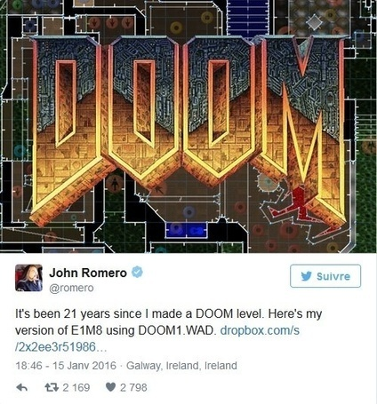 John Romero crée un nouveau niveau pour Doom !   Vade RETROGames sans tanasse!   Scoop.it